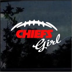 kansas city chiefs girl decal sticker