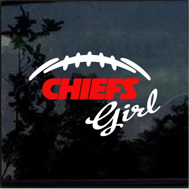 Kansas City Chiefs Girl Window Decal Sticker Custom