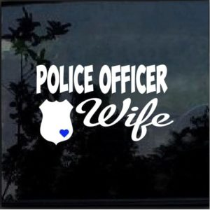 police officer wife car window decal sticker