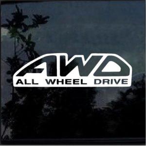 AWD All wheel drive Subaru STI Forester WRX Decal sticker
