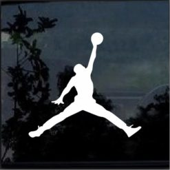 Air Jordan jumpman basketball car window sticker