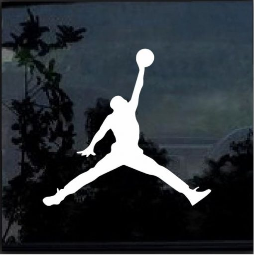 Air Jordan jumpman basketball car window sticker