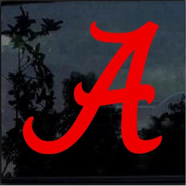Alabama Crimson Tide A Window Decal Sticker Custom