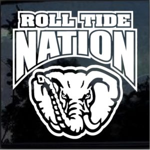 Alabama Roll Tide Nation Decal Sticker