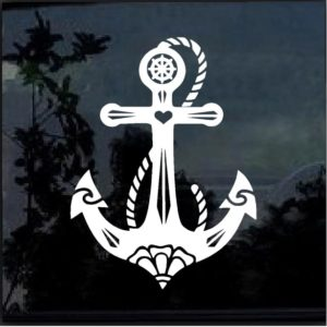 Anchor Boat Decal Sticker a2