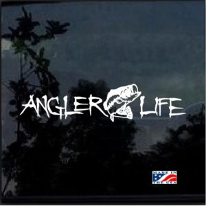 Angler Life Fishing Decal Sticker