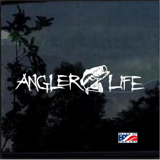 Angler Life Fishing Decal Sticker