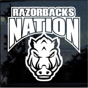 Arkansas Razorbacks Nation Decal Sticker