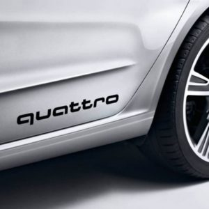 Audi Quattro Side panel decal set of 2 13x1.75