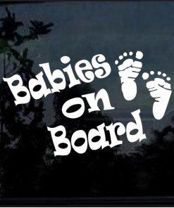 Babies on Board Footprint Decal Sticker
