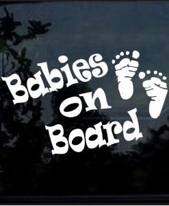 Babies on Board Footprint Decal Sticker