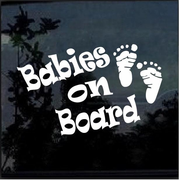 Babies On Board Footprint Decal Sticker Custom Sticker Shop