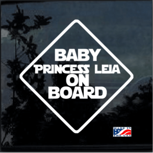 Baby Princess Leia On Board Decal Sticker a2