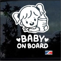Baby on Board Girl Decal Sticker