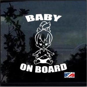 Baby on Board Pebbles decal sticker