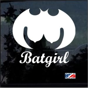 Batgirl Titt Decal Sticker