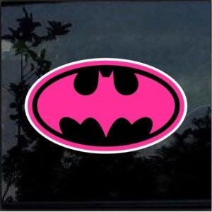 Batman Pink and Black Vinyl Decal Sticker