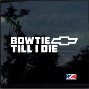 Bow Till I Die Decal Sticker a2