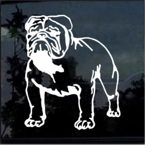 Bulldog Decal Sticker a2