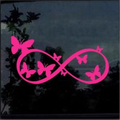 Butterfly Pink Infinity Decal Sticker