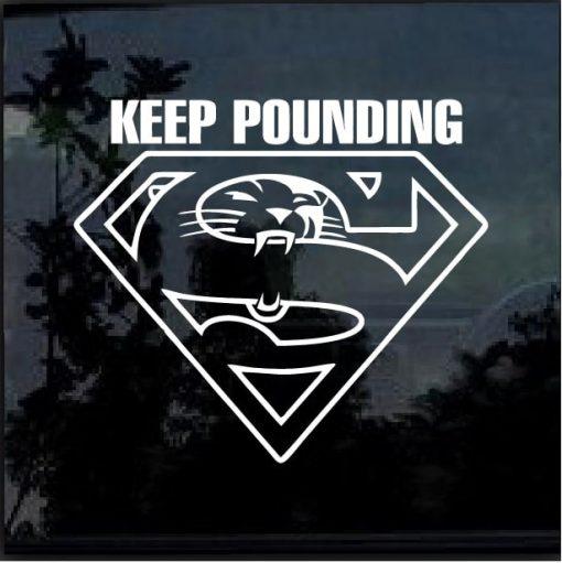 Carolina Panthers Keep Pounding Decal Sticker
