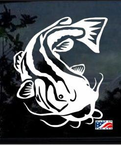 Catfish Fishing Decal Sticker