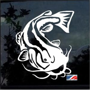 Catfish Fishing Decal Sticker
