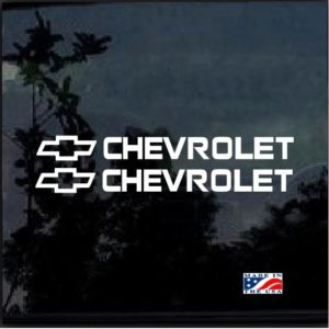 Chevrolet Chevy Bowtie Decal Stickers set of 2