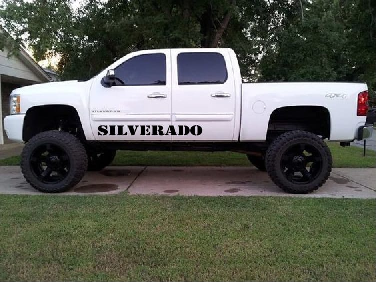 Chevy Silverado Door Runner Decal Sticker Set of 2 A2 & Truck Decals - Chevy Silverado Door RunnerSticker Set of 2 a2 ...