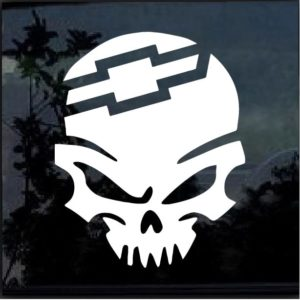 Chevy Skull Decal Sticker