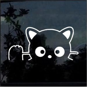 Chococat Cat Waiving Decal Sticker