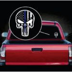 Punisher Skull Thin Blue Line  Full Color Decal  - Cool Stickers