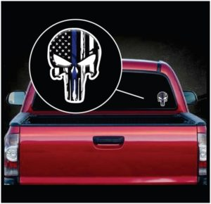 Chris Kyle Punisher Thin Blue Line Color Decal Sticker