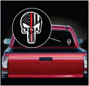 Chris Kyle Punisher Thin Red Line Color Decal Sticker