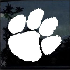 Clemson Tigers Paw Decal Sticker 2