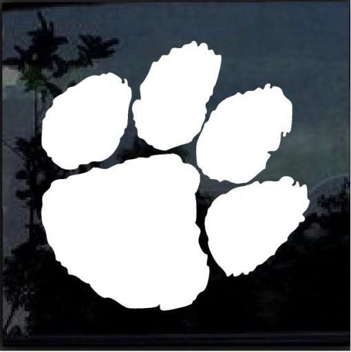 Clemson Tigers Paw Decal Sticker 2