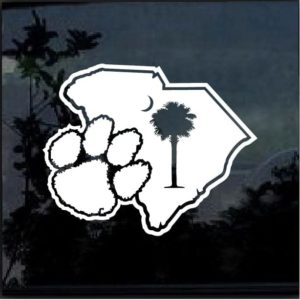 Clemson Tigers Paw Decal Sticker