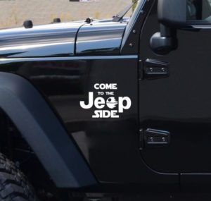 Come to the jeep side Decal set