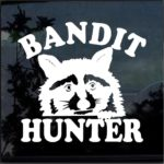 Coon Coon Hunter Bandit Hunting Window Decal Sticker