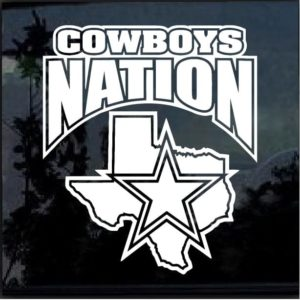 Dallas Cowboys Nation Decal Sticker