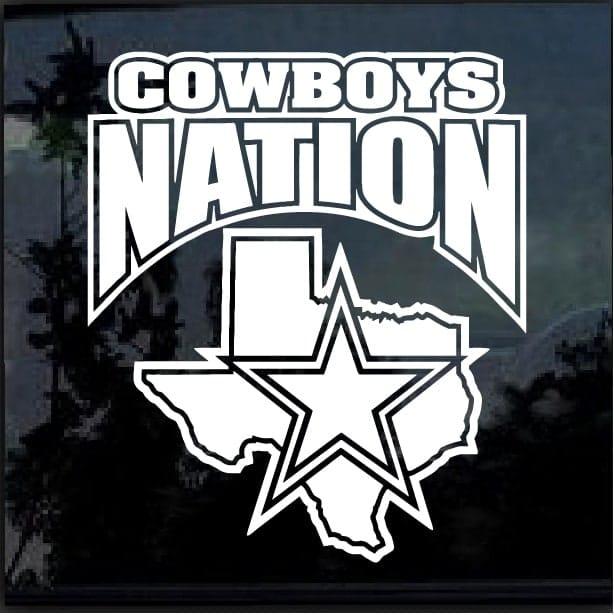 Dallas Cowboys Nation Window Decal Sticker Custom