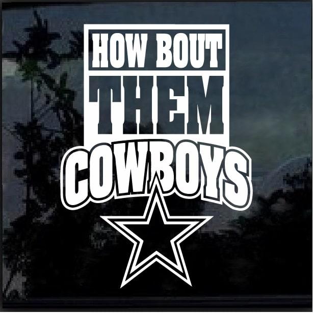 Dallas Cowboys How Bout Them Boys Window Decal Sticker