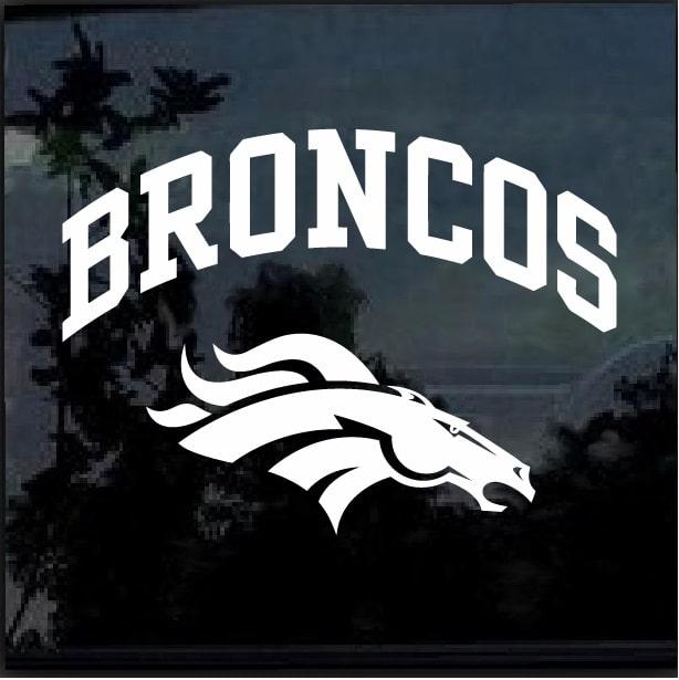 Denver Broncos Window Decal Sticker Custom Sticker Shop