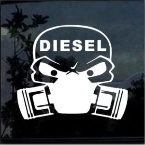 Diesel Skull Mask Decal Sticker