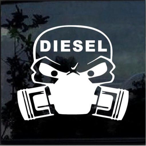 Diesel Skull Mask Decal Sticker
