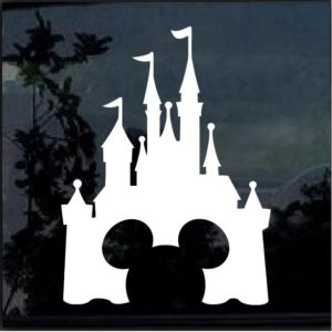 Disney Castle Mickey Mouse Decal Sticker