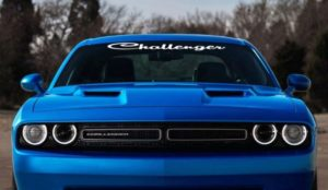 Dodge Challenger Script Windshield Decal sticker