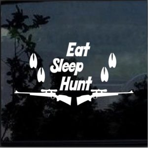 Eat Sleep Hunt Hooves Decal Sticker