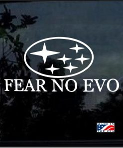 FEAR NO EVO Subaru STI WRX BRZ AWD Decal Sticker