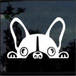 French Bulldog Car Peeking Decal - Dog Stickers